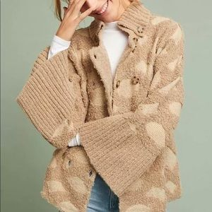 Anthro Rosie Neira Intarsia spotted sleeve sweater